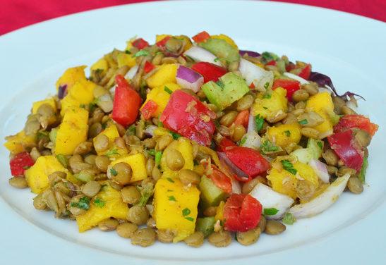 Asian Lentil and Mango Salad Recipe