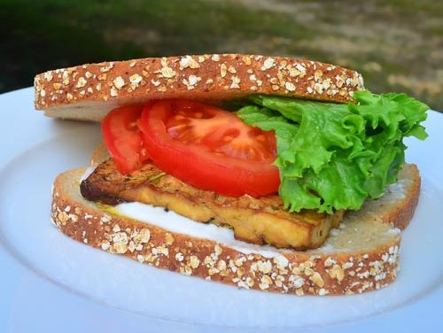 Baked Tofu Sandwich Recipe